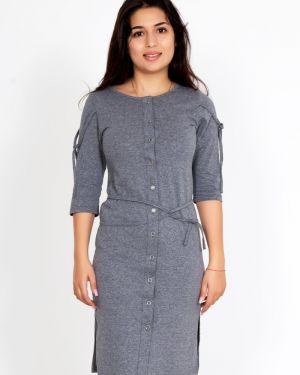 Платье с поясом с разрезами по бокам платье-сарафан Lika Dress