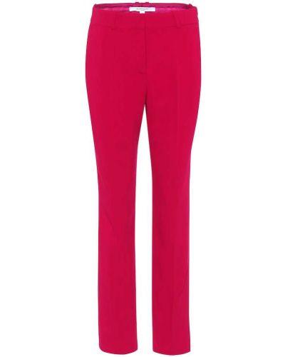 Różowy spodni klasyczne spodnie z wiskozy Givenchy