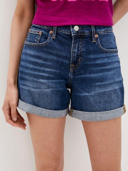 Синие джинсовые шорты со стразами Gap