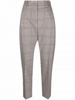 Шерстяные брюки - серые Alberto Biani