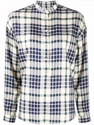 Рубашка с длинным рукавом в клетку - бежевая Woolrich