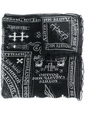Черный платок из вискозы Ktz