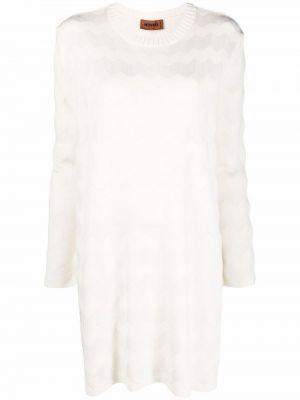 Шерстяное платье макси - белое Missoni