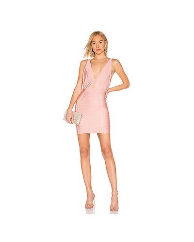 Платье мини розовое облегающее By The Way.