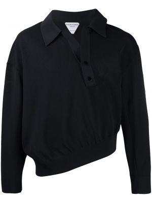 Koszula z długim rękawem długa czarna Bottega Veneta
