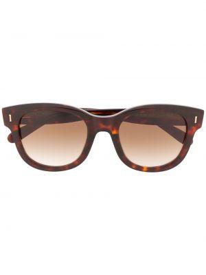 Brązowe złote okulary Mulberry