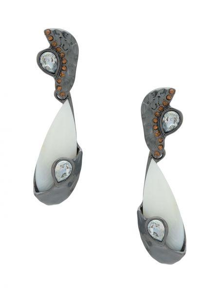 Черные серьги металлические с камнями Camila Klein