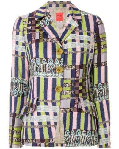 Прямой пиджак винтажный на пуговицах Christian Lacroix Pre-owned