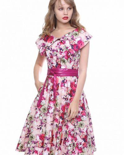 Повседневное платье розовое осеннее Marichuell