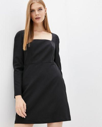 Черное итальянское платье Trussardi