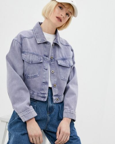 Фиолетовая джинсовая куртка Befree