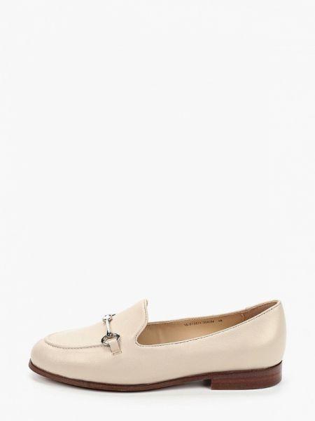 Бежевые кожаные туфли из натуральной кожи Mascotte