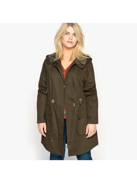 Пальто с капюшоном с поясом с карманами спортивное Castaluna