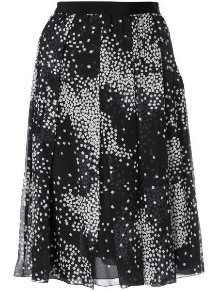 Плиссированная юбка с цветочным принтом пачка Giambattista Valli