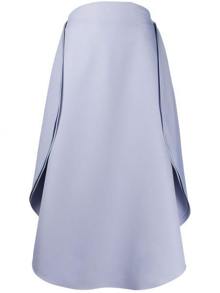 Spódnica midi z wysokim stanem niebieska Stella Mccartney