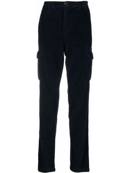 Bawełna spodni niebieski bojówki z kieszeniami Eleventy