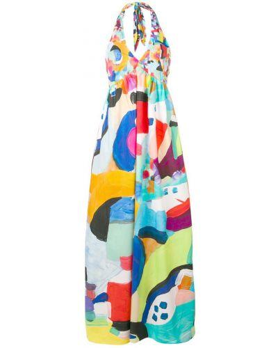 Платье макси с V-образным вырезом с вырезом Sara Roka