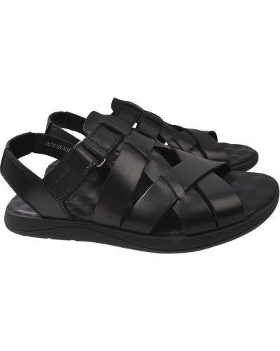 Кожаные сандалии - черные Davis