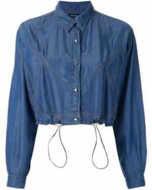 Джинсовая куртка длинная - синяя Tufi Duek