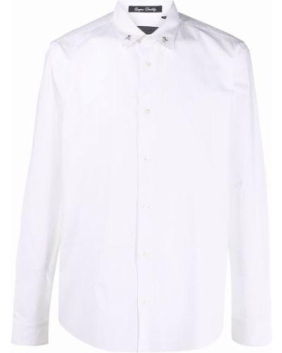 Biała klasyczna biała koszula Philipp Plein