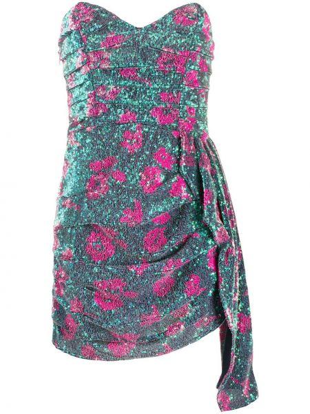 Асимметричное розовое коктейльное платье с пайетками на молнии For Love & Lemons