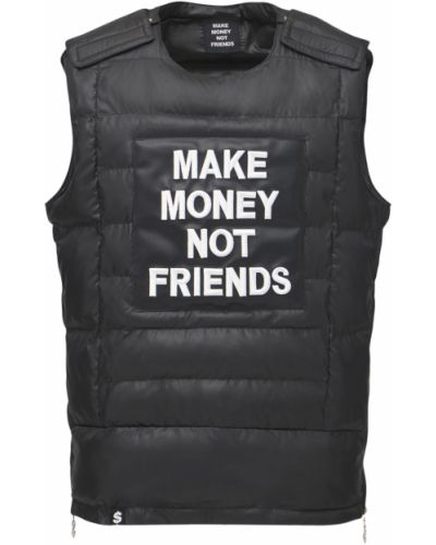 Жилетка с вырезом круглая на молнии Make Money Not Friends
