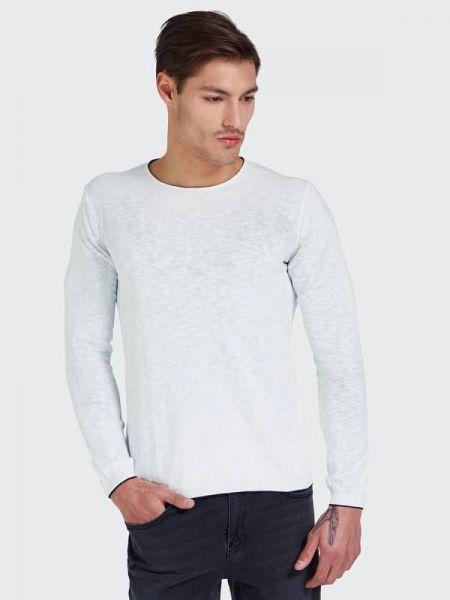 Klasyczny niebieski sweter bawełniany Guess