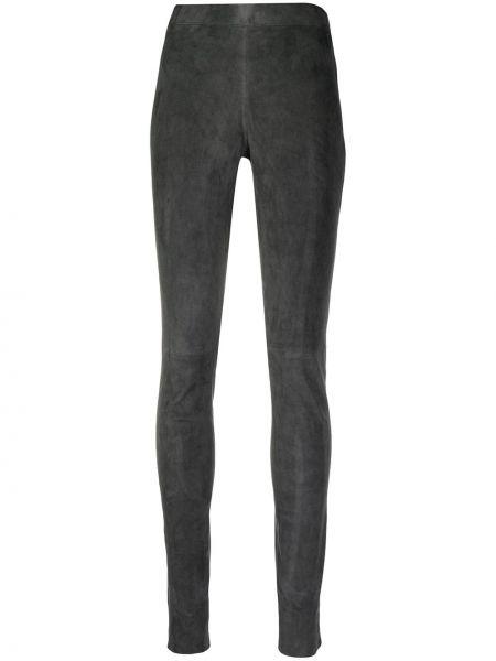 Серые брюки эластичные без застежки Joseph