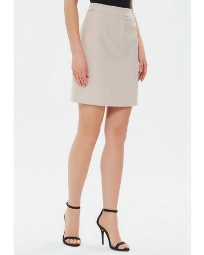 Бежевая прямая юбка карандаш Moru