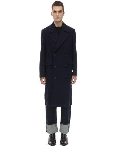 Niebieski płaszcz wełniany Mp Massimo Piombo