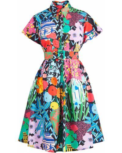 Летнее платье мини на пуговицах Emanuel Ungaro