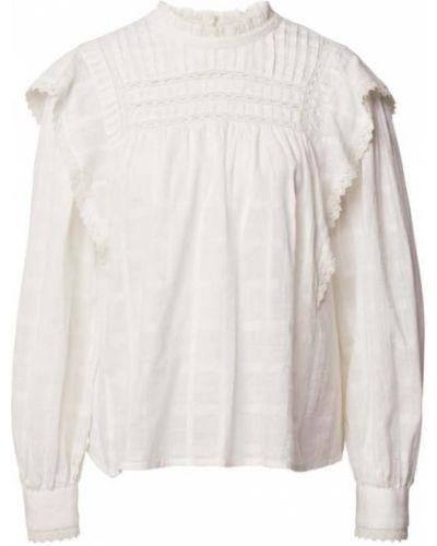 Bluzka z falbaną z falbanami - biała Set