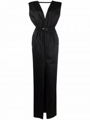 Хлопковое платье макси - черное Rick Owens Drkshdw