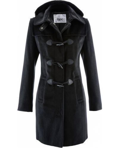 Пальто с капюшоном - черное Bonprix