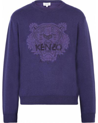 Niebieski sweter z haftem Kenzo