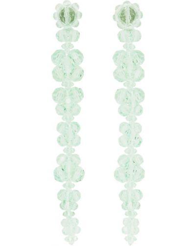 Зеленые серьги-гвоздики Simone Rocha