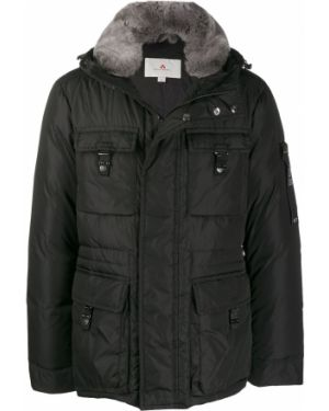 Куртка с капюшоном черная на молнии Peuterey