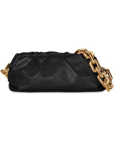 Кожаная черная сумка на цепочке с подкладкой Bottega Veneta