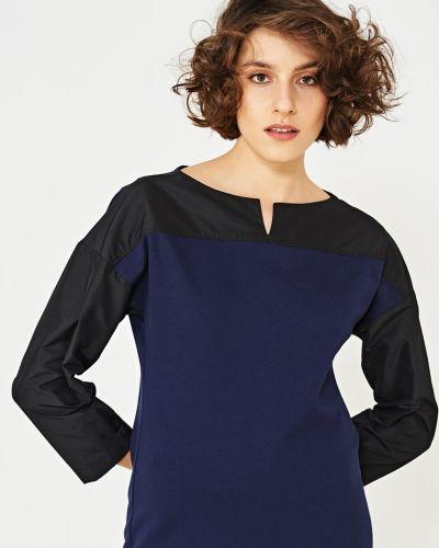 Блузка с V-образным вырезом из вискозы Simple