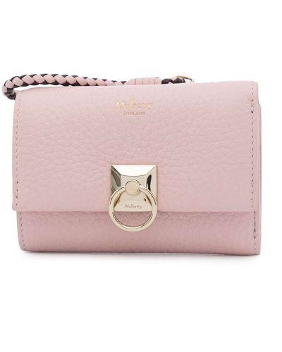 Złota kopertówka - różowa Mulberry
