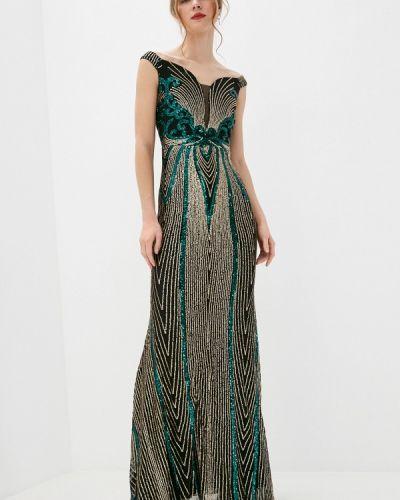 Зеленое вечернее платье Soky & Soka