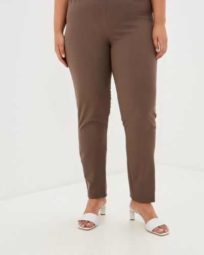 Коричневые весенние брюки Prewoman