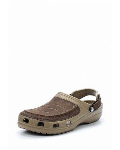 Коричневое сабо Crocs