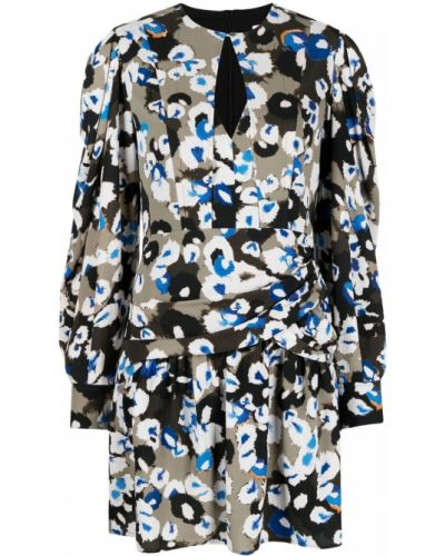 Синее платье макси с длинными рукавами круглое Lala Berlin