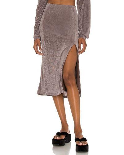Повседневная шерстяная юбка на резинке Lpa