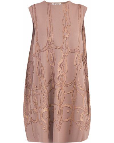 Платье мини с запахом с абстрактным принтом Valentino