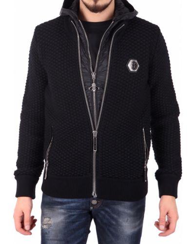Черная куртка осенняя Philipp Plein