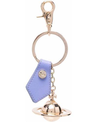 Niebieski brelok skórzany Vivienne Westwood