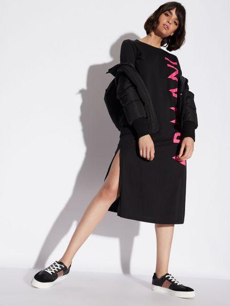 Хлопковое платье - черное Armani Exchange