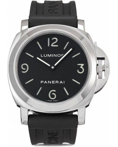 Со стрелками черные часы механические круглые Panerai